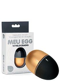 Meu Egg - Vibrador Soft Touch Metalizado - 7cm - Dourado
