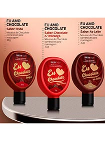 Eu Amo Chocolate - Gel Comest�vel Para Massagem - Chocolate ao Leite